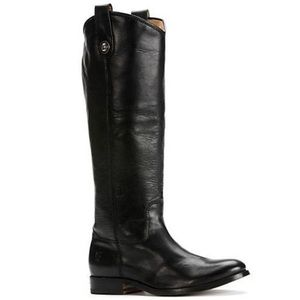 Frye Melissa Button Tall Black Leather Boots